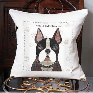French Bulldog Personalised Dog Cushion Cover