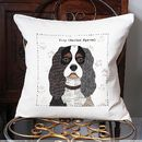 King Charles Spaniel Personalised Dog Cushion Cover