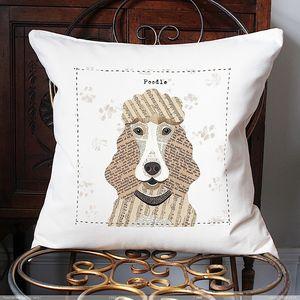 Poodle Personalised Dog Cushion - personalised cushions