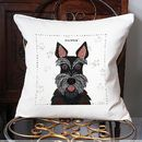 Scottie Dog Personalised Cushion Cover