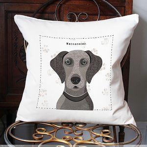 Weimaraner Personalised Dog Cushion