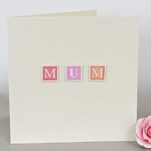 Personalised 'Mum' Card