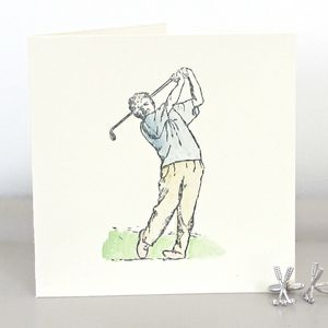 Handmade Golfer Birthday Card - retirement cards