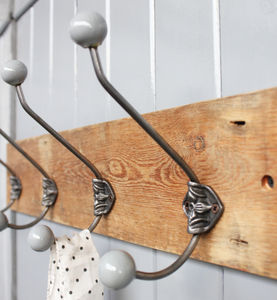 Limited Edition Reclaimed Rosette Hat And Coat Hook - hooks, pegs & clips