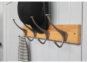 Reclaimed Wood Top Hat And Coat Hook - stands, rails & hanging space