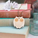 Wooden Owl Necklace