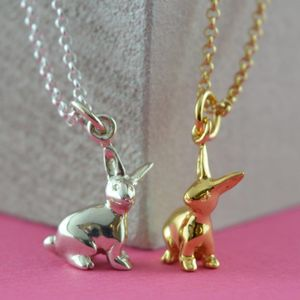 Bunny Necklace With Personalised Gift Message - necklaces & pendants