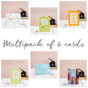 Multipack Of Six Greetings Cards - birthday cards