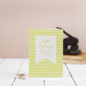 Happy Birthday To You Card - birthday cards