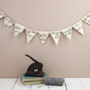 Vintage Music Mini Bunting - home accessories