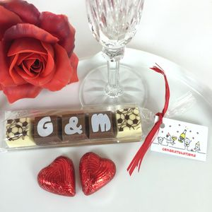 Wedding Favours With Initials In Chocolate - novelty chocolates