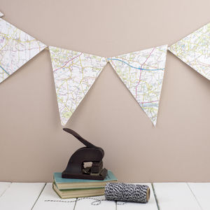 Vintage Map Bunting - room decorations