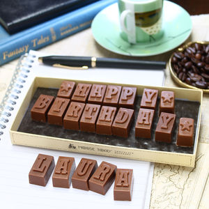 Large Personalised Chocolate Message