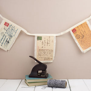 Postcard Bunting - room decorations