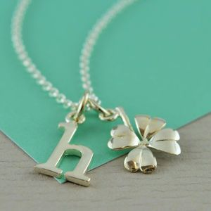 Four Leaf Clover Necklace With Personalised Message - necklaces & pendants