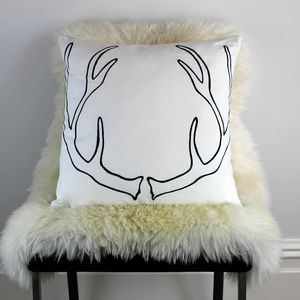 Antlers Cushion - winter homeware