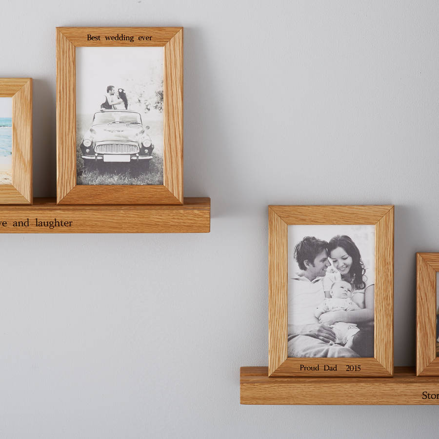 personalised multi photo frame shelf with two frames by mijmoj ...
