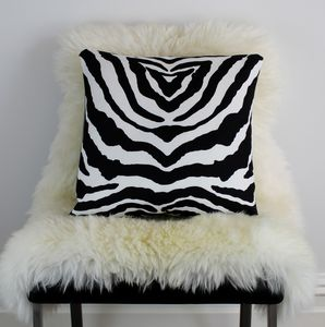 Zebra Print Cushion - living room