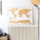 Framed Scratch Map Original Poster