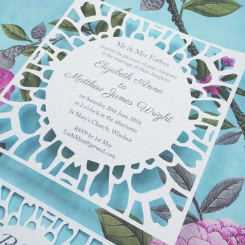 Pétale Floral Wedding Invitation