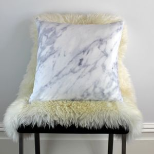 Marble Cushion - patterned cushions