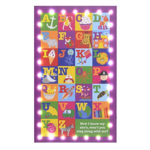 Illuminated LED Abc Canvas - wall hangings for children