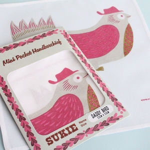 Animal Print Mini Cotton Handkerchief - women's accessories