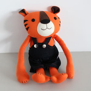 Organic Cotton Jeppe Tiger Soft Toy - toys & games for children