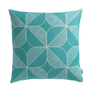 'Rosette In Teal' Cushion