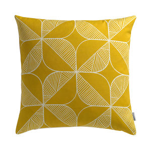 'Rosette In Yellow' Cushion - patterned cushions