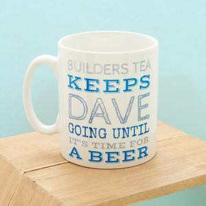 'Keep Going' Personalised Mug For Him