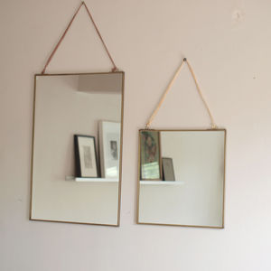 Brass Mirror - bedroom