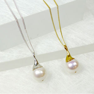 Freshwater Cultured Pearl Pendant - bridal edit