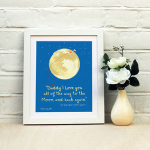 'I Love Dad To The Moon' Father's Day Print - whatsnew
