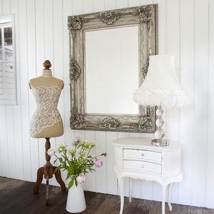 Silver Adorned Mirror - mirrors