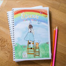 Girl's Personalised Notebook 'Painting Rainbows'