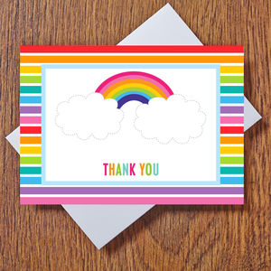Rainbow Thank You Cards - thank you cards