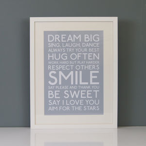 'Dream Big' Print - prints under £25
