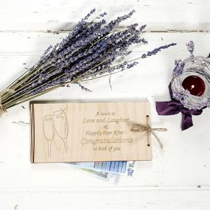 Wooden Money Envelope For A Special Day