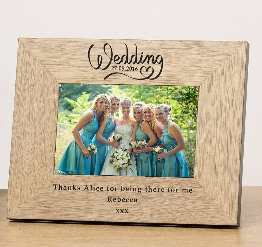 personalised wedding date photo frame by babyfish ...