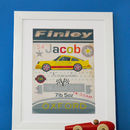 Personalised Retro Boys Print