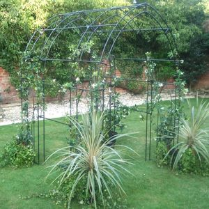 Gothic Steel Tunnel Garden Arch Made In Britain - garden furniture