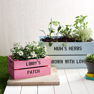 Mummy And Me Personalised Crates - garden with children