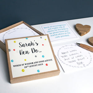 Personalised Hen Party Message Box