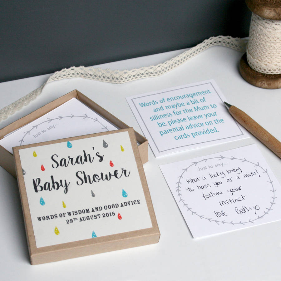 personalised baby shower message box by modo creative – Baby Shower Message
