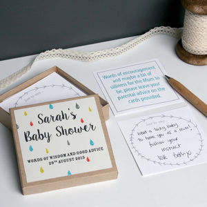 Personalised Baby Shower Message Box - more