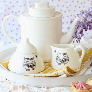 Illustrated Milk Jugs And Sugar Pots