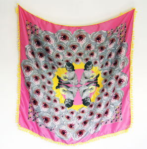 'Bloom' Designer Silk Scarf - womens