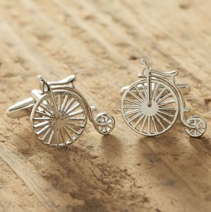 Penny Farthing Silver Cufflinks - winter sale