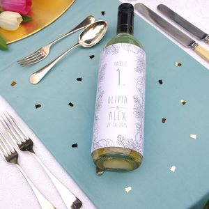 Floral Wedding Guest Table Number Bottle Sleeve - table decorations